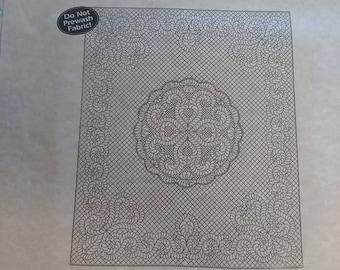 Benartex Pre-printed Wholecloth Feathered Fantasy-natural
