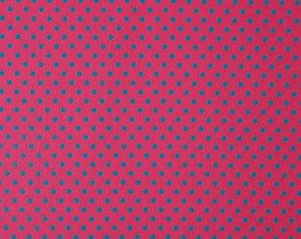 Claudia - dots on pink background turquoise