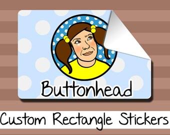 250 Custom Packaging Labels, Custom Band Stickers, Custom Logo Stickers