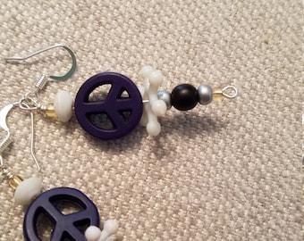 Cute peace sign earrings