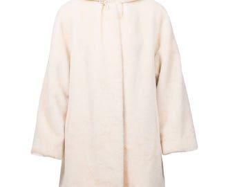 Vintage PETER HAHN Alpaka FUR  hoodie coat jacket 80S