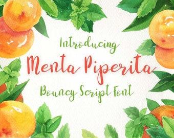 Menta Piperita - an hand lettered bouncy script font