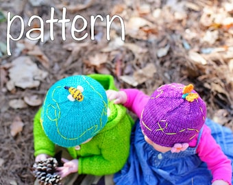 make your own Trail Cap (DIGITAL KNITTING PATTERN) newborn baby toddler child adult