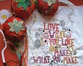 DIY Love Embroidery Sampler