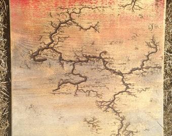Wall Art / Fractal / Rustic Decor