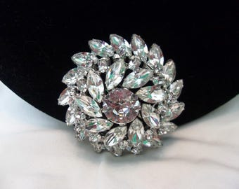 JULIANA Delizza Elster DE Designer Wedding Cake Diamante Glass Rhinestone Silver Plate Brooch Pin