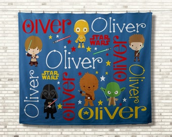 Personalized Star Wars Blanket, Personalized Baby Blanket, Personalized Baby Gift, Baby Blanket, Birthday Gift, Starwars Lover Gift