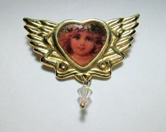 Vintage Angel Pin - OOAK - Handmade - 1990's