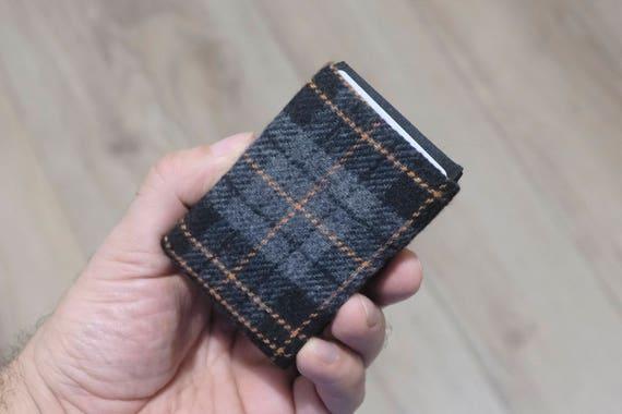 Vegan Wallet, Design Wool Mens Wallet, Minimalist Wallet, Design Wool Womens Wallet Slim Wallet - RFID Blocking Wallet - Limited Edition