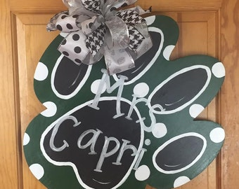 Paw Print Door Hanger - Door Decor