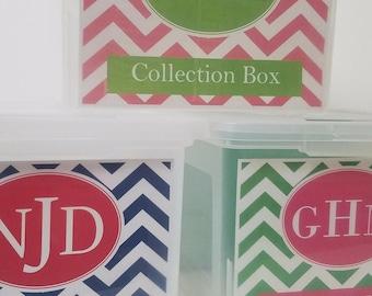 Family Pack 3 - School Memory Box, School Keepsake Box, School Work Organizer, School Organizer, School Paper Storage  -PDF Download