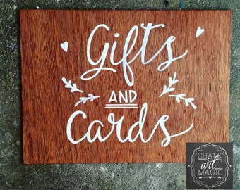 Timber Cards and Gifts Sign