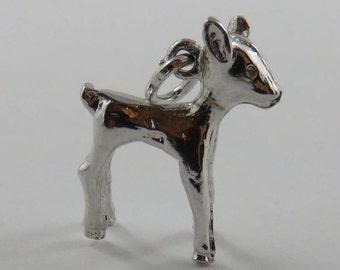 Fawn Sterling Silver Vintage Charm For Bracelet
