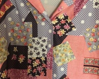 Patchy 60's collared button up