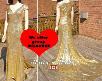 Bridesmaid dress, gold sequin bridesmaid dresses, gold sequin dress, gold wedding dress, sequin wedding dress
