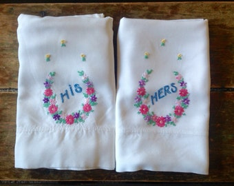 His & Hers Vintage Pillowcases