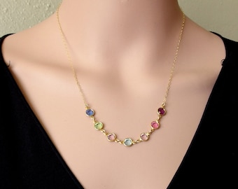 Grandma necklace Mother necklace Family necklace Birthstone necklace Personalized grandma gift Personalized birthstone necklace Gift for her