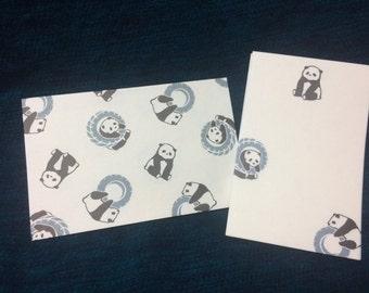 Kawaii Mini Japanese Letter Set - Panda Stationery