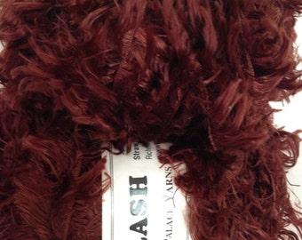 Crystal Palace Splash Yarn, Color-Espresso #3393, Fiber-polyester eyelash, weight-bulky/super bulky