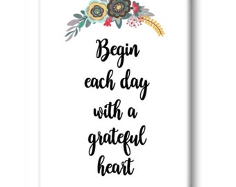 Grateful Heart Magnet, Refrigerator Magnet, Kitchen Magnet - RM013