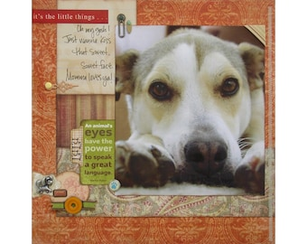 """Digital Scrapbook Layout """"The Little Things"""""""