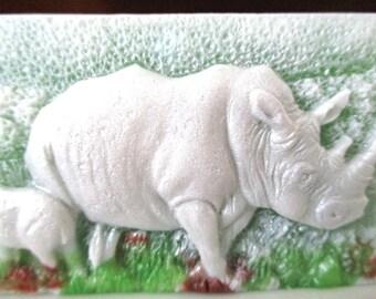 Rhinoceros Soap  with scent of Lemongrass...an aroma of fresh cut lemongrass....