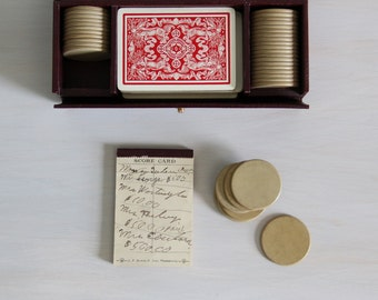 antique pinochle card game / c. 1911