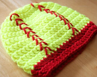 Softball Hat, crochet hats for women and girls, 5T to adult sizes available