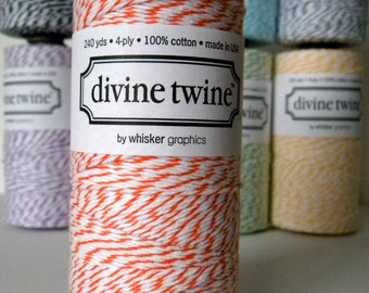 Orange Baker's Divine Twine, 240 Yards, 720 Feet
