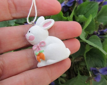 Vintage Easter Bunny Miniature Ornament