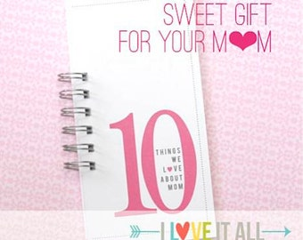 Gift for Mom Nana Granny . Valentine Mother's Day Gift . 10 Things Love About Mama Mommy Mother Birthday Card Coupon Book What I Love About