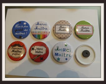 """Magnets, fridge magnets """"special master 2"""" round 58mm in diameter, metal"""