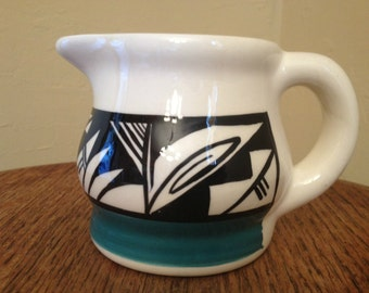 Vintage Native American Wonderful Ute Pottery Creamer or Pitcher Signed