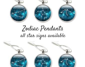 Constellation Jewelry - Zodiac Necklace - Star Sign Necklace - Zodiac Jewelry - Blue Jewelry Zodiac