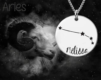 Aries Zodiac Necklace | Aries Constellation Necklace | Astrology Necklace | Personalized Gifts | Korena Loves
