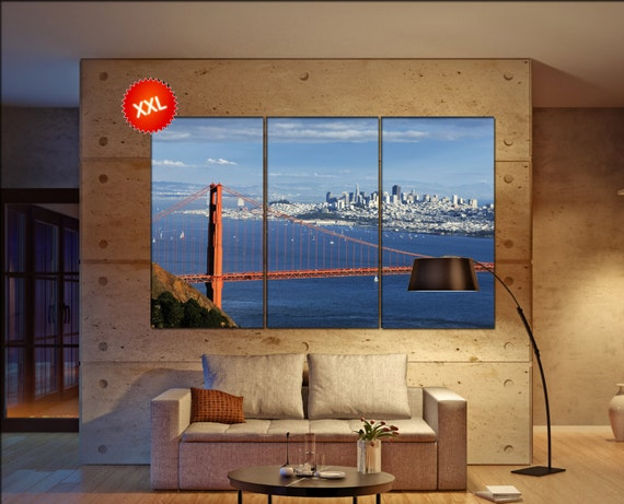 Golden Gate Bridge wall decor art  Golden Gate Bridge black white  Golden Gate Bridge canvas wall art  canvas wall art