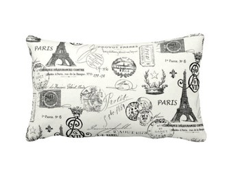Decorative Throw Pillow Decorative Pillow Cover Black Pillow Cover French Script Pillow Parisian Decor French Decor Pretty Little Liars