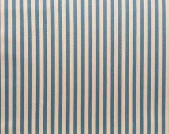 Japanese Sevenberry fabric - Canvas - blue stripes - by 50 cm (110 x)