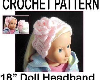18 inch American Girl Doll Crochet HeadBand Pattern
