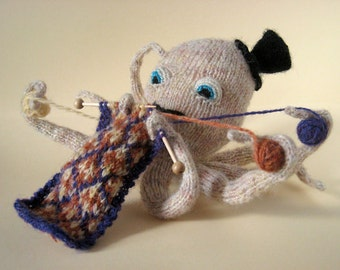 The Knitting Octopus Greeting Card