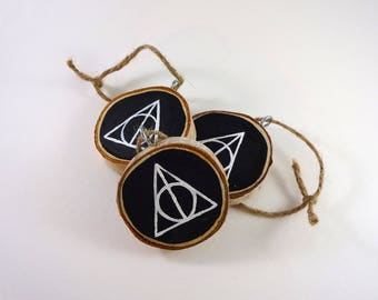 Deathly Hallows Wood Ornament