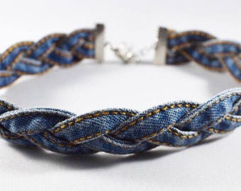 BRAIDED JEAN CHOKER, Choker Necklace, Jean Choker