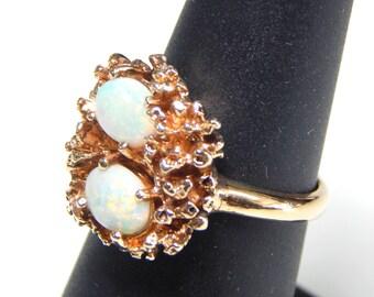 10k Opal Robin's Nest Ring