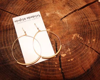 Gold Tube Hoop Earrings | minimalist hoops, gold hoop earrings