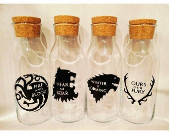Game of Thrones Winter Is Coming 4 House stationery storage craft bottles gift set