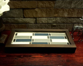 Candle Holder with Modern Glass Tile
