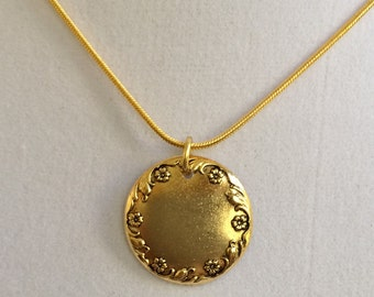 Initial of Choice Gold Necklace