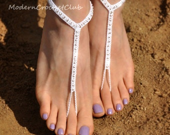 Beaded Barefoot Sandals- Foot Jewelry- Footless Sandals- Barefoot Wedding Sandals- Beach Wedding Shoes- Boho Wedding Shoes- Girlfriend Gift