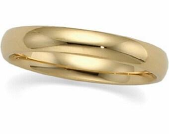 14K yellow comfort fit 2mm wedding band