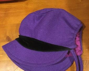 Purple Baby Bonnet 12/18 Months